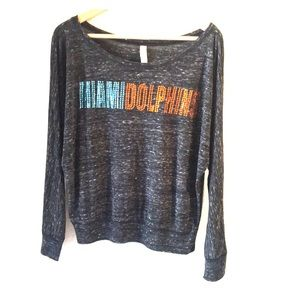 Women's Miami Dolphins crystal embellished shirt